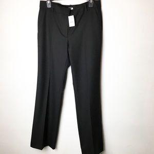 NWT J Crew SZ 8 Black Wide Leg Trouser Pants
